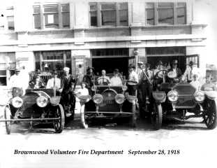 Brownwood Volunteer Fire Department - 1918